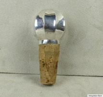 Flaschenkorken mit Silbermontur 835er Silber, € 50,00