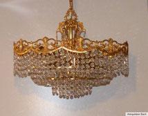 Kristalllüster, Kronleuchter,Kristallglas, feuervergoldet , € 1250,00