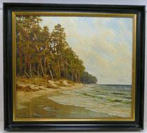 Fred von Lubtow 1908 - 1979, Öl auf Leinwand, Kiefern, Stand, Wellen, € 675,00