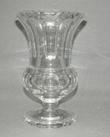 Große Art-Deco Glasvase,mundgeblasen,Kristallglas,Flächenschliff,25,0 cm, 2,86kg , € 320,00