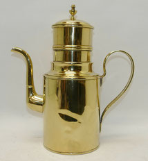 Messing Kaffeekanne,2,5 L mit Filtereinsatz, Innen verzinnt,34,0 cm, Mitte 19tes, € 165,00