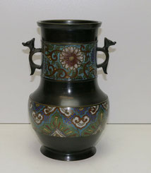 Bronze Vase, Japan, Meiji-Periode, Emaill Dekor, Champlevé Vase, 27,0 cm, €  475,00