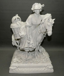 "Figur,""La Laitiére"",""Die Milchverkäuferin"",nach J-B Greuze,Ernst Bohne, 38,0 cm, € 750,00"