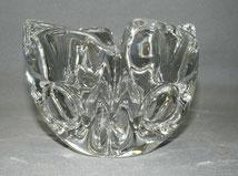 Glas Schale, Sevres France, mundgeblasen, 3360 gr. Ø 16,0 cm, 12,0 cm hoch , € 150,00