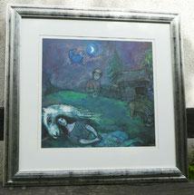 Marc Chagall, Scéne Champétre, 1944, Granolitho, Hochwertig gerahmt , € 395,00