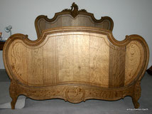 Massives Eichen Barock Bett, Louis XV , Frankreich 1870, € 1500,00