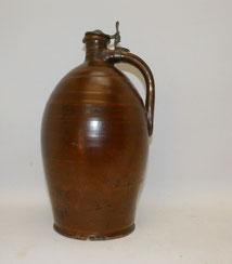 Ölkrug, 18. Jahrhundert, braun glasiert, Zinndeckel, 36,0 cm, € 195,00