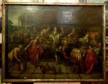 Frans-II-Francken-Umkreis-18-Jhd-Die-Hochzeit-von-Kanaa-Ol-auf-Holz-123x-93cm , € 6500,00