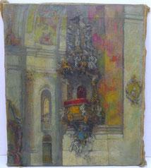 Jupp Decker, Aachener Maler Wieskirche Bayern,von Brandis Schüler 20 Jhd., € 650,00