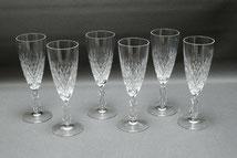 6er Satz, Kristall Sektglas, eingestochene Luftblase, geschliffen, Inh. 100 ml , € 185,00