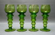 1. von 4. Römer. Weinglas, Beerennuppen, grünes GlasTraubenschliff, 18,5 cm , € 69,00