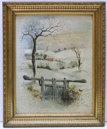 Marguerite Glooley, Schneelandschaft, Öl auf Leinwand, Goldener Rahmen, , € 220,00