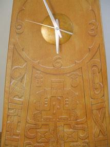 Maya-Uhrwerk-Standuhr-Skulptuhr-Uhr-Kunstwerk-Skulptur von künstlerstein.de Mathias Rüffert