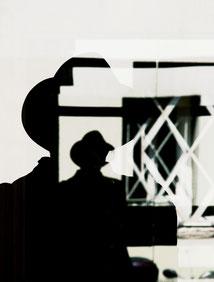 Autoportrait, reflet, Paris, chapeau, 20e