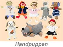 Handpuppen-Fingerpuppen-Wandl´s Gwandl