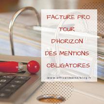 facture, mentions obligatoires