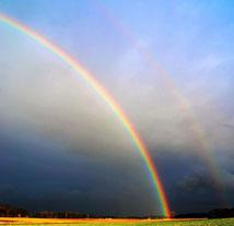 Regenbogen doppelt
