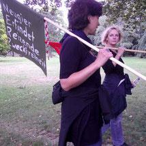 Grenzüberschreitung#4, zu Gast bei Angela Hildebrandt, 27.september 2012, Esslingen, Merkelpark