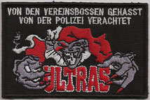 Ultras Aufnäher, Von den vereinsbossen gehasst polizei verachtet. Lunatic Hooligans Clown Patch