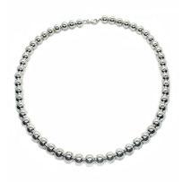 Damen Halskette, Collier 45 cm lang mit großen Kugeln