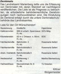 Bild: Wünschendorf Denkmale