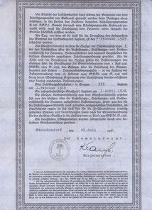 Bild: Bestallungsurkunde BM Krauß Wünschendorf