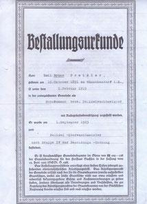Bild: Wachtmeister Preißler Wünschendorf Bestallung