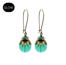Flieda ° The Fairytale Floret ° Noctilucent Dangle Earrings * Designed and Manufactured by Elfgard® Germany