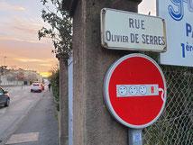 Détournement de panneau réalisé à Guilherand-Granges