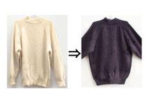 ▲カシミヤ100% セーター 漂白剤シミ