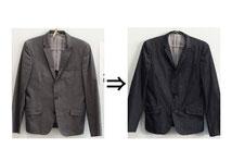 ▲綿75%ポリエステル25% スーツ(ジャケット) 日焼け・色あせ