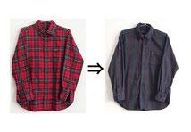 ▲綿70%ポリエステル30% シャツ 柄を消したい