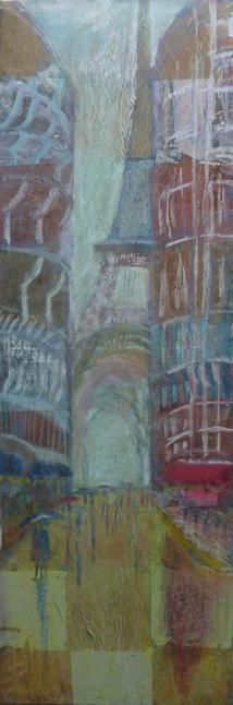 Acryl, Schlagmetall, Kreide, Paris