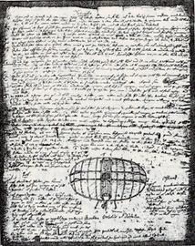 スウェーデンボルグ考案飛行機の草稿