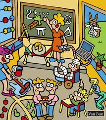 Dirk Van Bun Communicatie & Vormgeving - Illustratie - Muurschildering - internetgazet - wiskundige termen