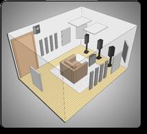 Комплект акустических материалов серии Melody для комнат 10-20 м2