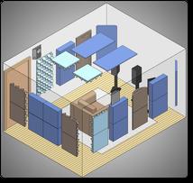 Комплект акустических материалов для комнат 10-20 м2