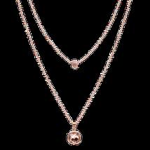 Doppelkette in rosé Gold von dekoster