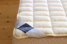ビラベック羊毛100%のベッドパッド