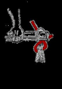 チェアーハンモックの結び方7