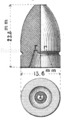 Bayerisches Expansionsgeschoss nach Podewils. Muster 1858.