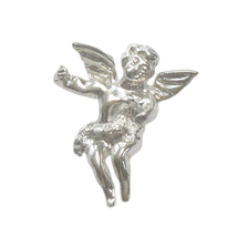 925 Silber Schmuck Kettenanhänger Putte, kindlicher Engelanhänger mit Flügeln