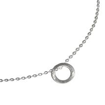 sehr modern und trendige Halskette. Gefertigt in Stuttgart. Geometrische Kette mit flachen Kreisanhänger aus 925 Sterlingsilber.