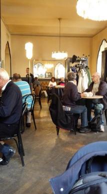 Szene aus einem Wiener Kaffeehaus