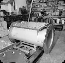 Rohrreinigungskasten DN 500 mit Putzöffnung  Flanschanschluß DN 600 mit Sonderflanschen