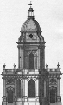 St Philip's Church from William Hutton 1783 An History of Birmingham