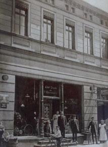 Ladenlokal von A. Drucks aus dem Jahr 1912