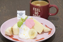 バナナショートケーキ カフェ