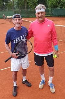 Günther Hausen (links) und Michael Busch  - TNB Vizelandesmeister und Landesmeister Sommer 2021
