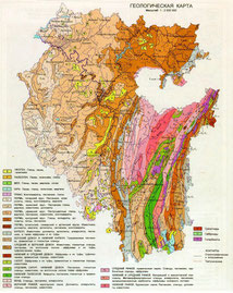 Геологическая карта Башкирии